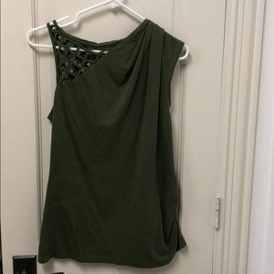 Anthropologie green top size M